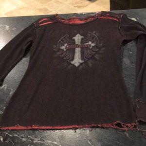 Reversible long sleeved top